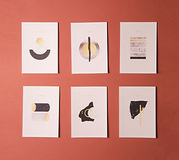 Postcards about elements of Sami cultural knowledge - Simon Ballen