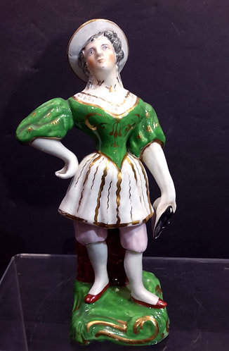 18TH CENTURY ENGLISH PORCELAIN FIGURE