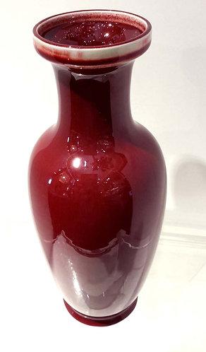 Chinese Ox Blood Glaze Porcelain Vase, circa 1900