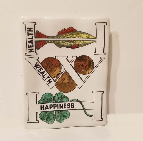 Fornasetti Milano, Happiness, Wealth and Health Ceramic Plate