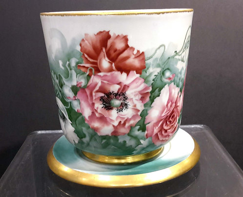 Limoges France Large Floral Planter  Circa 1900