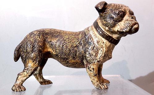 C.1900 Vienna Bronze Bulldog, Stamped