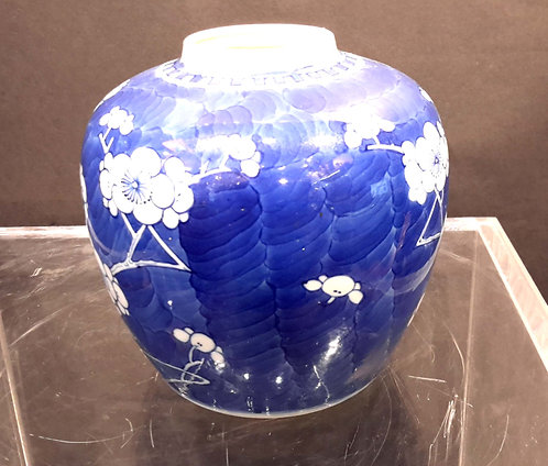 19TH CENTURY BLUE AND WHITE PORCELAIN VASE CHINESE