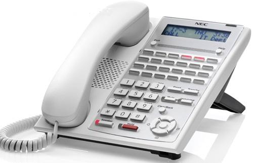 טלפונים מנהלים 24 לחצנים צבע לבן