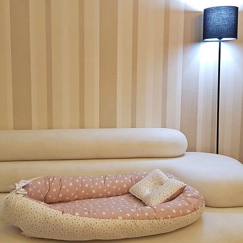 BabyNest Bebek Uyku Yatağı Ve Yastığı %100 Pamuk