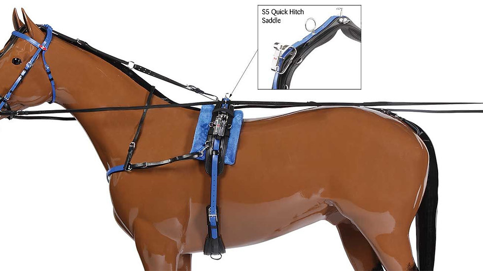 TROT- HARNAIS COMPLET QUICK HITCH Sellette10cm Zilco