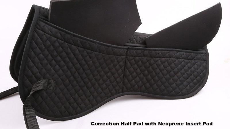 Pad correcteur à poche avec insert neopréne pour cheval