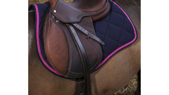 """Tapis de selle cheval EQUITHÈME """"Infinity"""" avec ou sans Bonnet"""