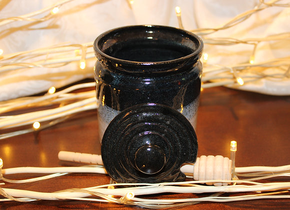 Black-Cream Honey Jar