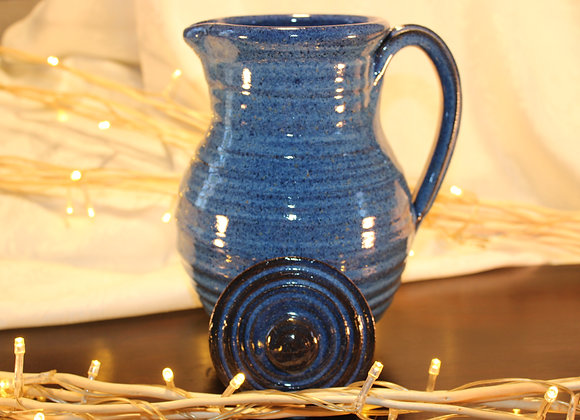 Floating Blue Covered Pitcher