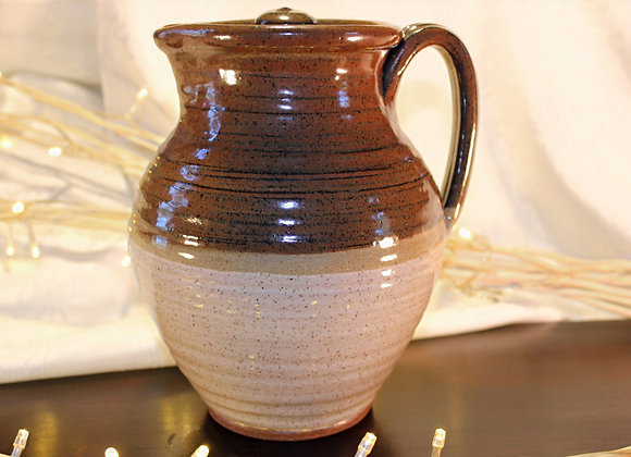 Brown - Cream Covered Pitcher