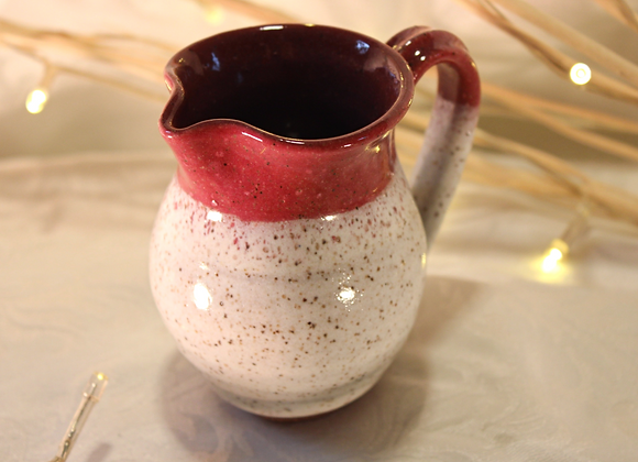 Raspberry - Cream Large Syrup Pitcher