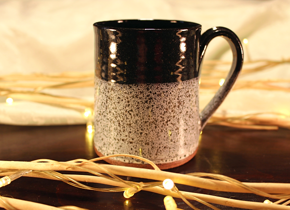 Black Spotted Small Mug