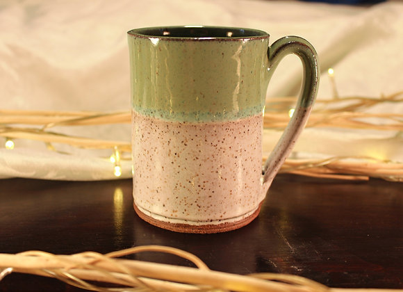 Green - Cream Small Mug