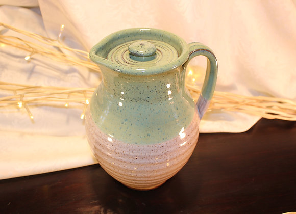 Green - Cream Covered Pitcher