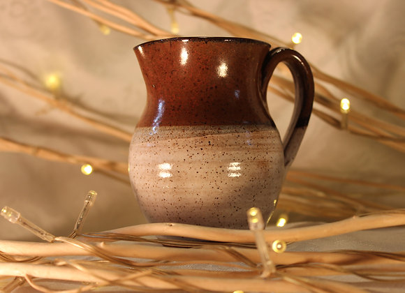 Brown - Cream Large Syrup Pitcher