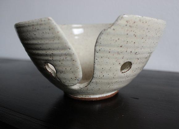 White Yarn Bowl
