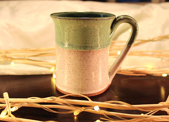 Green - Cream Large Mug
