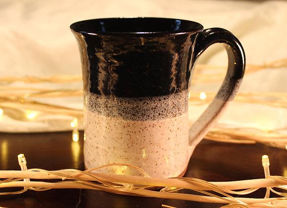 Black - Cream Large Mug