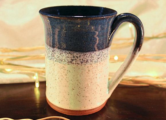 Floating Blue - Cream Large Mug