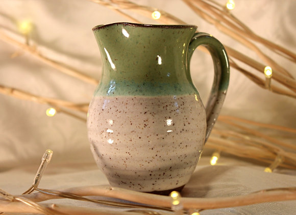 Green - Cream Large Syrup Pitcher
