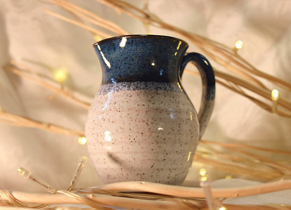 Floating Blue - Cream Small Syrup Pitcher