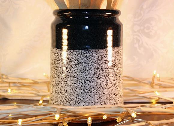 Black Spotted Open Jar