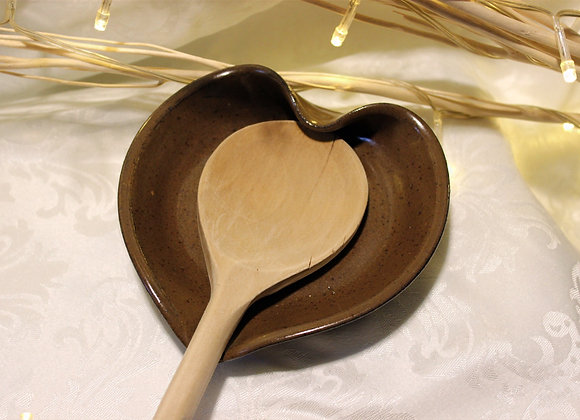 Brown Heart-shaped Spoon Holder