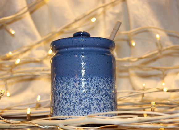 Blue Spotted Honey Jar