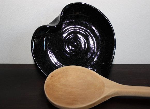 Black Heart-shaped Spoon Holder