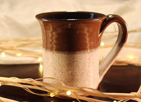 Brown - Cream Large Mug