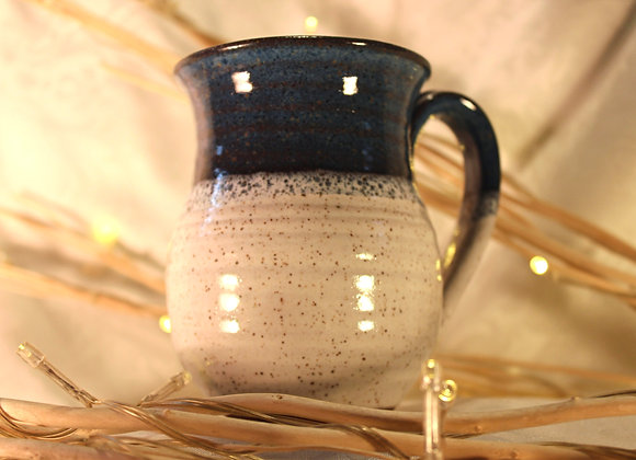 Floating Blue - Cream Round Mug