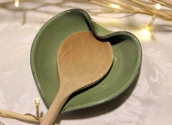 Green Heart-shaped Spoon Holder