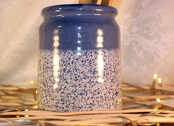Blue Spotted Open Jar