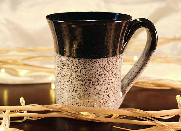 Black Spotted Large Mug