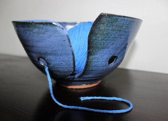 Blue Yarn Bowl