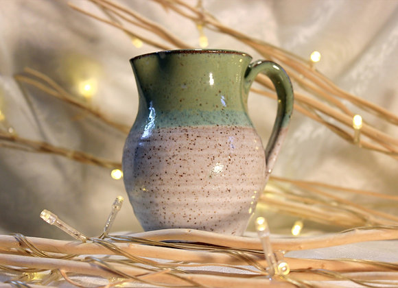 Green - Cream Small Syrup Pitcher