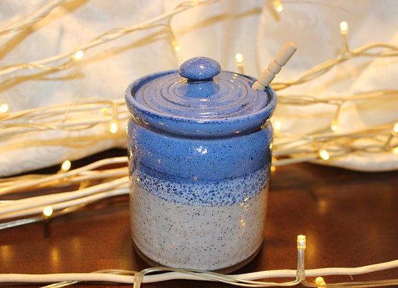 Blue-Cream Honey Jar