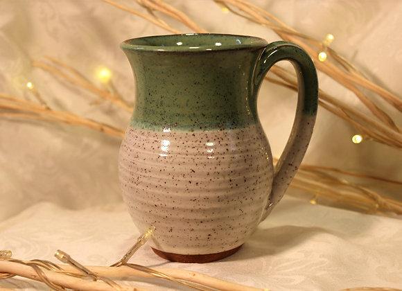 Green - Cream Round Mug