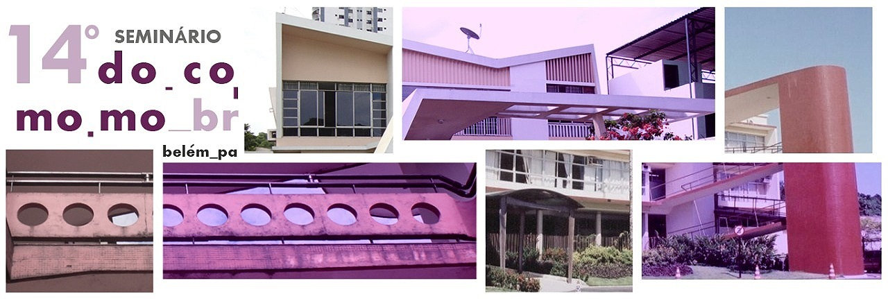 Header do site com montagem de várias obras da arquitetura moderna