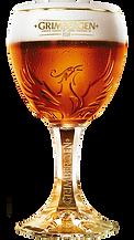 Grimbergen Ambree im Pokalglas ein herrlicher Durstlöscher im Haslital dem Hotel Sauvage und im Sauvage Pub