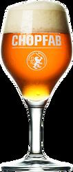 Chopfab Amber Bier gross oder klein an unserer Hotelbar im Sauvage Bar und Restaurant