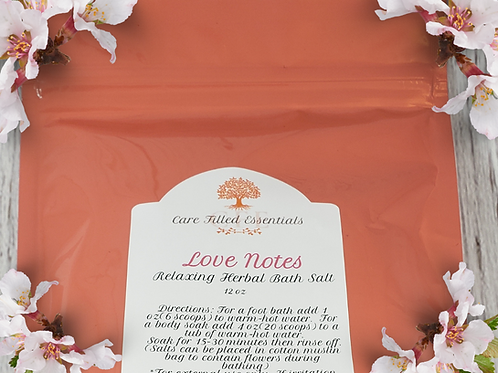 Love Notes Relaxing Herbal Bath Salt