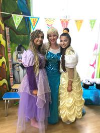Rapunzel, Elsa and Belle