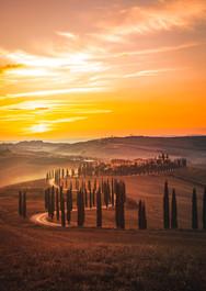 Tuscany Countryside at Sunset