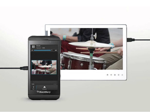 Portable Monitor with BlackBerry BB Z10