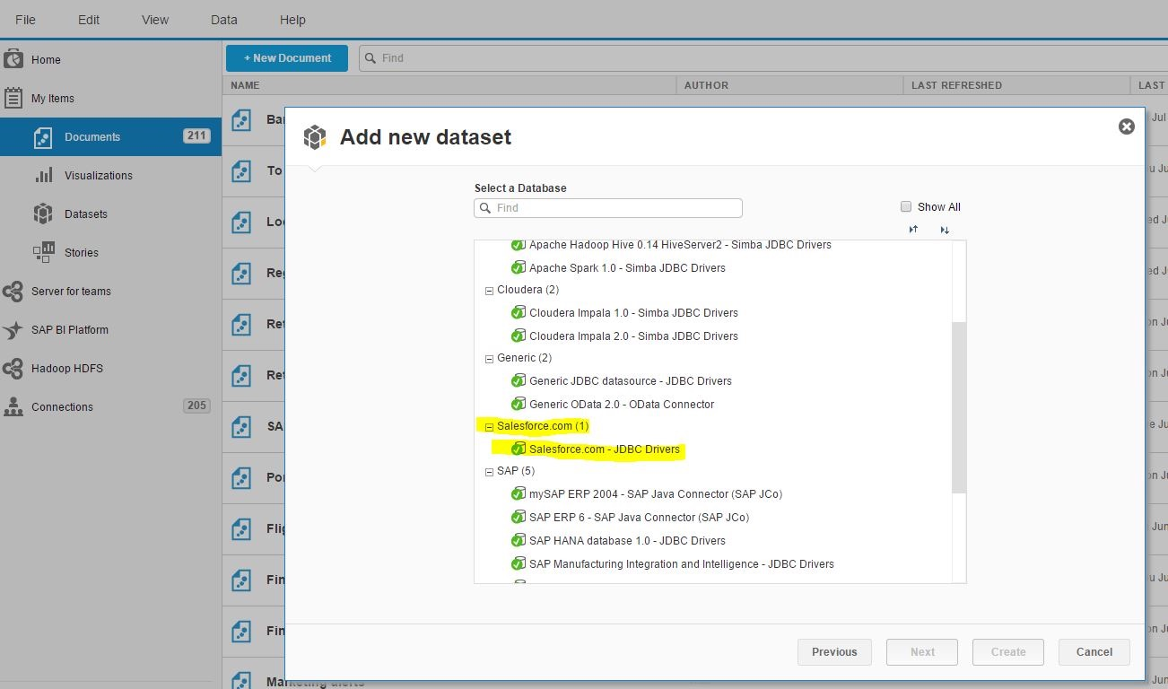 SAP BI running embedded into SalesForce