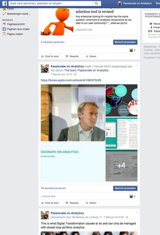 Passionate On Analytics goes social: Facebook page added