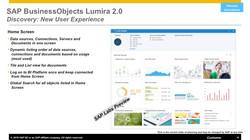 SAP Lumira 2.0 roadmap