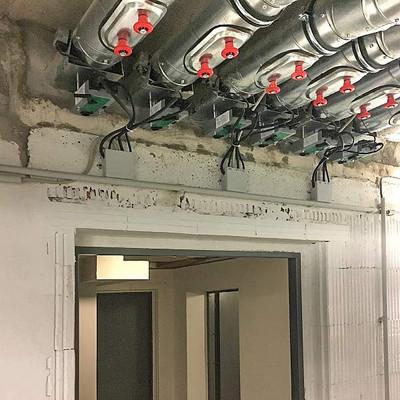 Elektroinstallation von Brandschutzklappen